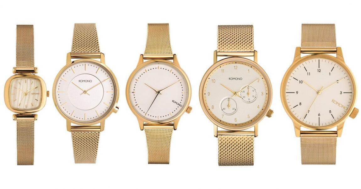 1cb38c5e8 Kolekce hodinek Komono The Gold White – ušlechtilá zlatá klasika v ...