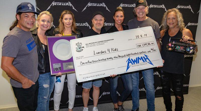 Metallica daruje dětem 72 000 školních obědů za téměř 1,8 milionu korun!