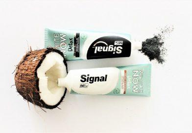 Signal představuje nové zubní pasty White Now Detox s detoxikační jílovou péčí!