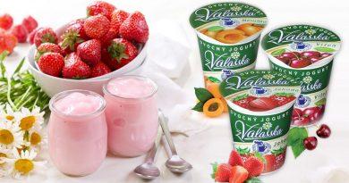 Ovocné jogurty z Mlékárny Valašské Meziříčí