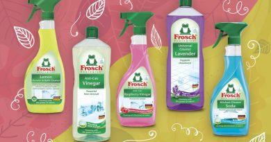 Udržitelný úklid domácnosti se žabkou Frosch