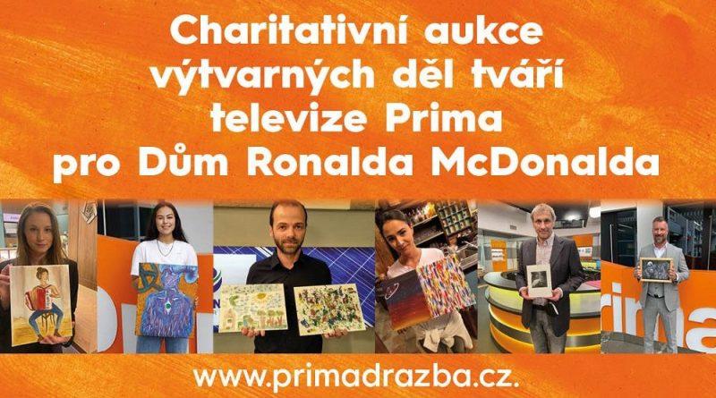 Tváře Primy pomohly vybrat téměř půl milionu korun na vybavení Domu Ronalda McDonalda pro rodiče dlouhodobě nemocných dětí