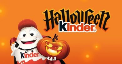 Halloween s pochoutkami Kinder